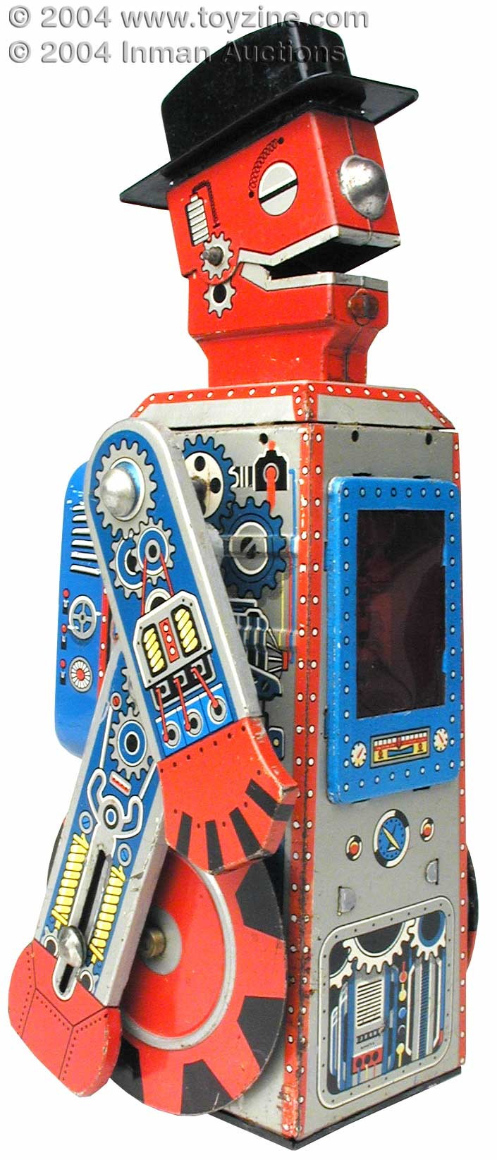 Japanese Tin Toy Robots : Tinplate japanese robot mego man tin toy f h