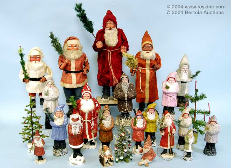 Collectible Christmas Ornaments vintage collectible santas, christmas ornaments, vintage xmas toys