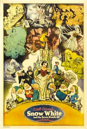 A rare Snow White and the Seven Dwarfs poster sold for $65725