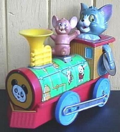 MODERN TOYS TOM AND JERRY TRAIN - TIN AND PLASTIC - JAPAN- 1960s