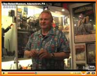 Retired New York City SWAT cop Joe Knedlans is owner/curator of the Toy Robot Museum