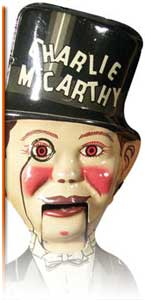 charlie mcarthy toy doll colectible